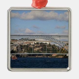 Pont des DOM Luis I, Porto, Portugal Ornement Carré Argenté