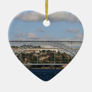 Pont des DOM Luis I, Porto, Portugal Ornement Cœur En Céramique