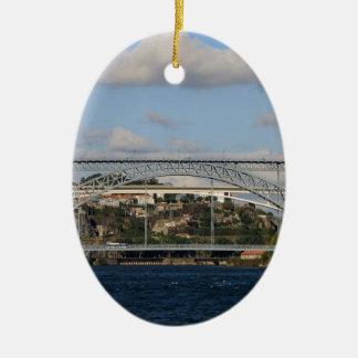 Pont des DOM Luis I, Porto, Portugal Ornement Ovale En Céramique
