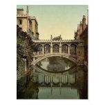 Pont des soupirs, cru Photoc de Cambridge, Anglete Carte Postale
