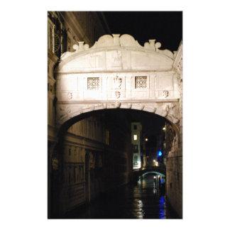 Pont des soupirs la nuit papeterie