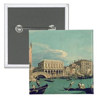 Pont des soupirs, Venise c.1740 Badge Carré 5 Cm