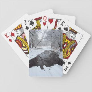 Pont d'hiver jeux de cartes