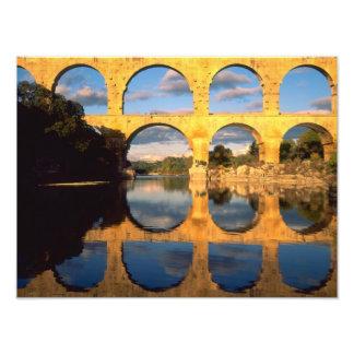Pont du le Gard, rivière de Gardon, le Gard, Langu Impression Photo