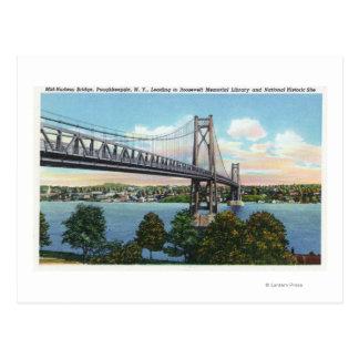 Pont du Mi-Hudson à historique national de Carte Postale