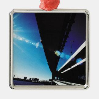 Pont en arc-en-ciel, Tokyo Ornement Carré Argenté