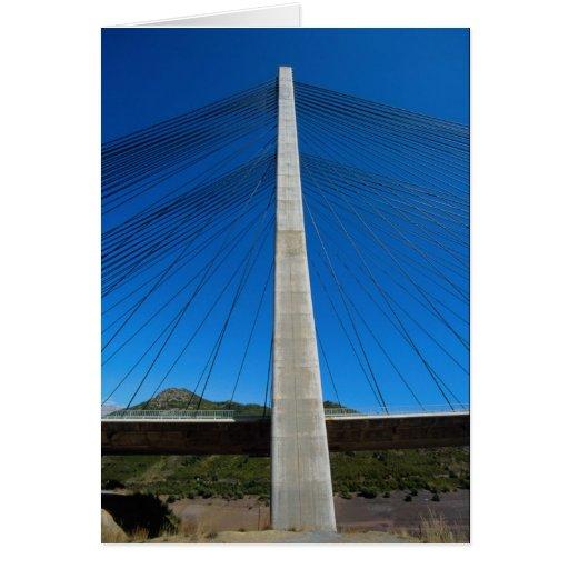 Pont en autoroute, banlieues De Luna, Espagne Cartes De Vœux