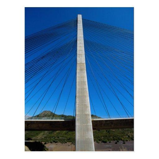 Pont en autoroute, banlieues De Luna, Espagne Carte Postale