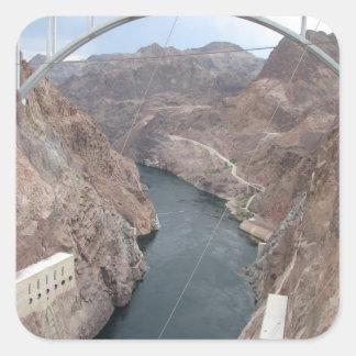 Pont en barrage de Hoover Sticker Carré