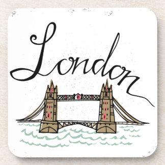 Pont en lettres de Londres de main Dessous-de-verre
