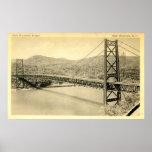 Pont en montagne d'ours, le fleuve Hudson NY, cru Posters