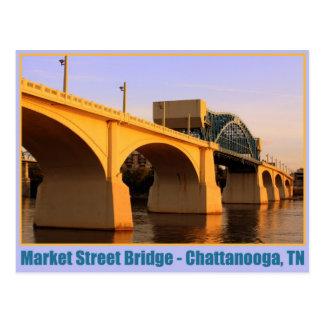 Pont en rue du marché - Chattanooga, TN Carte Postale