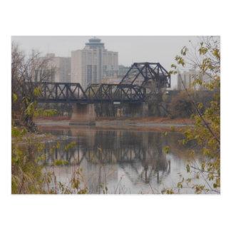 Pont en train de Winnipeg Carte Postale