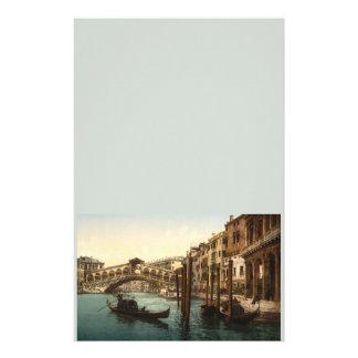 Pont I, Venise, Italie de Rialto Papier À Lettre Customisable