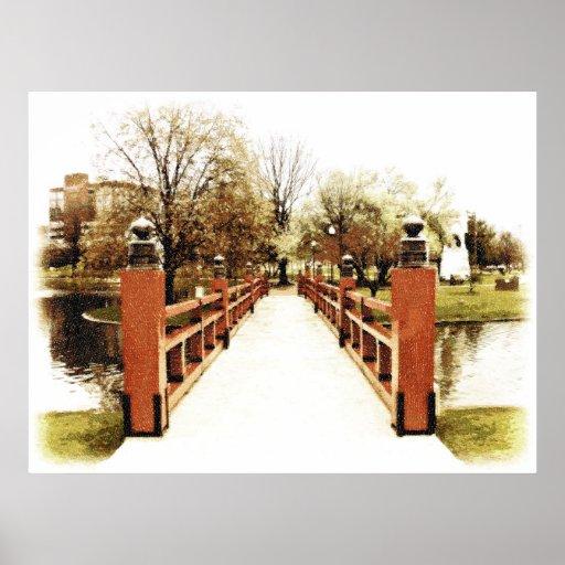 Pont japonais d'Huntsville, Alabama Posters