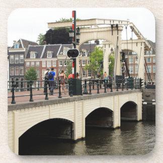 Pont maigre, Amsterdam, Hollande Dessous-de-verre