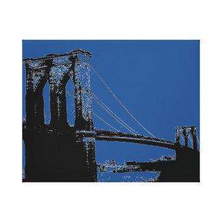 Pont noir et bleu d'art de bruit de Brooklyn Toiles