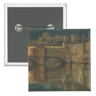 Ponte Vecchio, Florence (huile sur la toile) Pin's