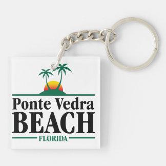 Ponte Vedra Beach Porte-clé Carré En Acrylique Double Face