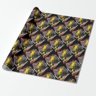 Ponts de type emballant le noir de papier papier cadeau