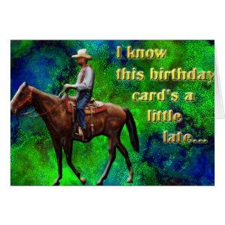 Pony Express a retardé la carte d'anniversaire