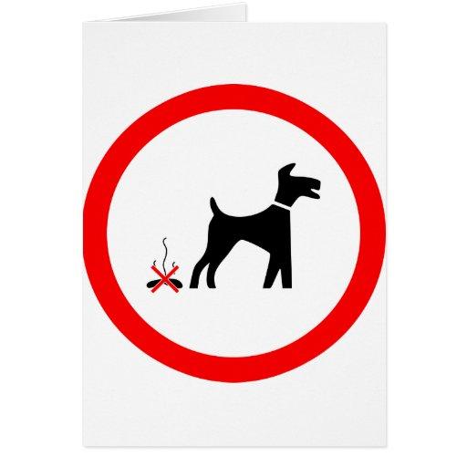 poo de chien de no_fouling_Vector_Clipart Cartes