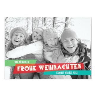 Pop der Farbe Weihnachtskarte Invitations