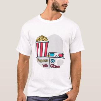 Poporn avec le T-shirt en verre 3d