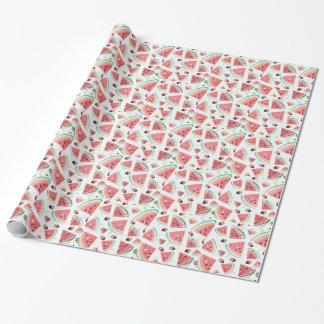 Popsicles, fraises et chocolat de pastèque papier cadeau