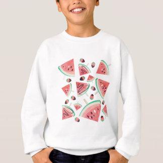 Popsicles, fraises et chocolat de pastèque sweatshirt