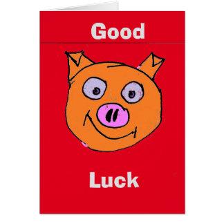 Porc chanceux carte de vœux