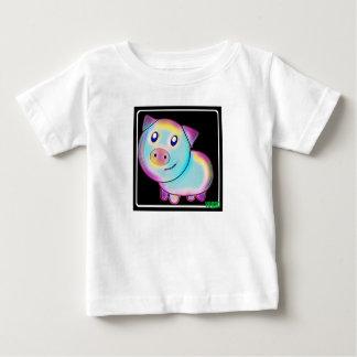Porc coloré par végétalien t-shirt pour bébé