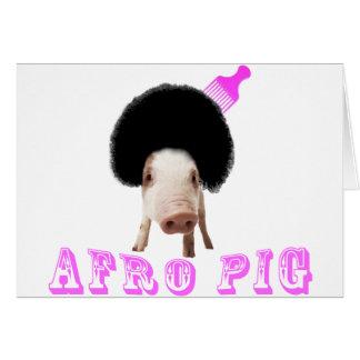 Porc d'Afro Carte De Vœux