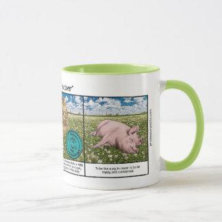 Porc dans le trèfle mug