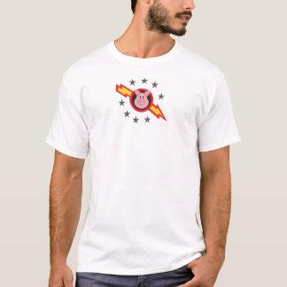 porc dans l'espace t-shirt