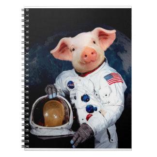 Porc d'astronaute - astronaute de l'espace carnet