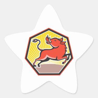 Porc de balénoptère sauvage de porc autocollants en étoile