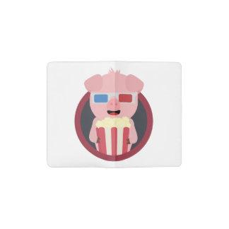 Porc de cinéma avec le maïs éclaté Zpm09 Protège-carnet De Poche