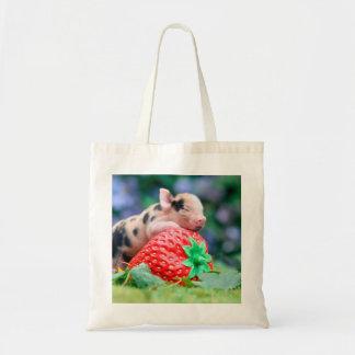 porc de fraise tote bag