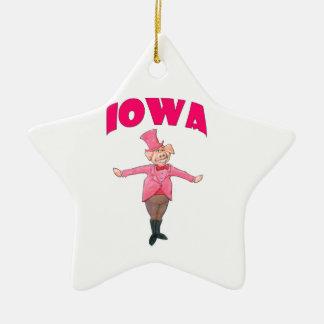 Porc de l'Iowa Ornement Étoile En Céramique