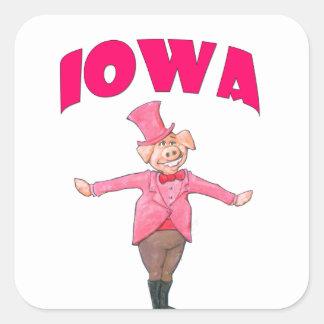 Porc de l'Iowa Sticker Carré