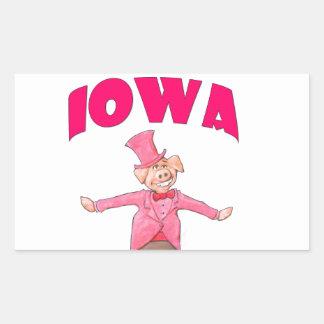 Porc de l'Iowa Sticker Rectangulaire
