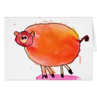 Porc de tango • Nate Perdue, âge 6 Cartes De Vœux