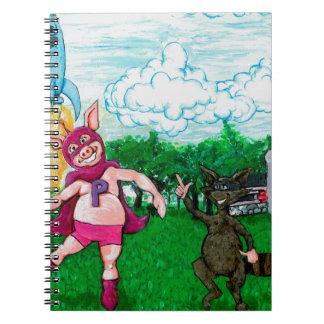 Porc et raton laveur et un Rocket Carnet