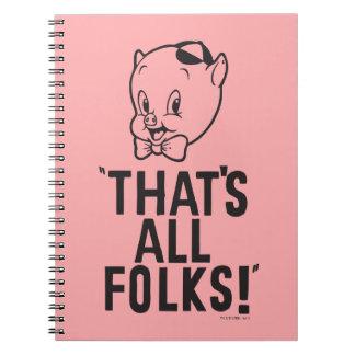 """Porc gros classique """"qui est tous les gens ! """" carnets à spirale"""