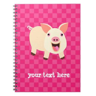 Porc heureux carnet à spirale