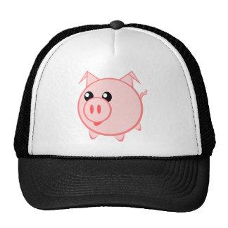 Porc heureux de bande dessinée casquette trucker