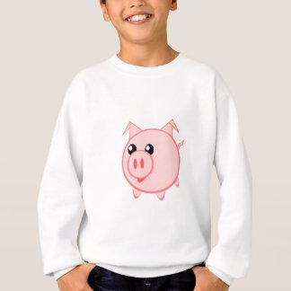 Porc heureux de bande dessinée t-shirt