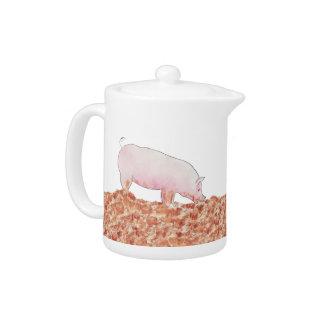 Porc mignon dans l'art animal pour aquarelle drôle