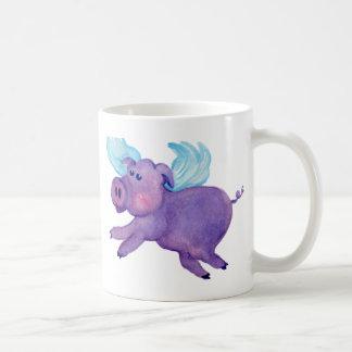 Porc pourpre de vol mug
